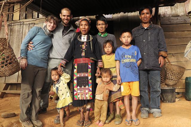 Stammoberhaupt des Akha-Dorfes Yayoung, Laos