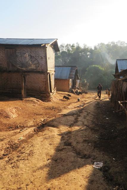 Dorf Yayoung der ethnischen Minderheit der Akha