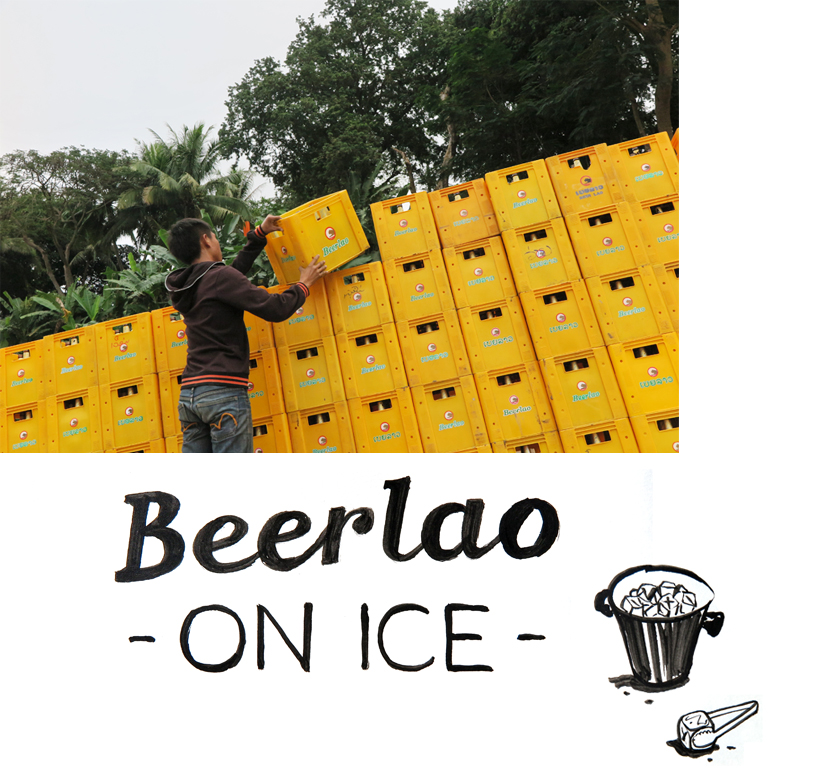 Lao-style: Beerlao on ice
