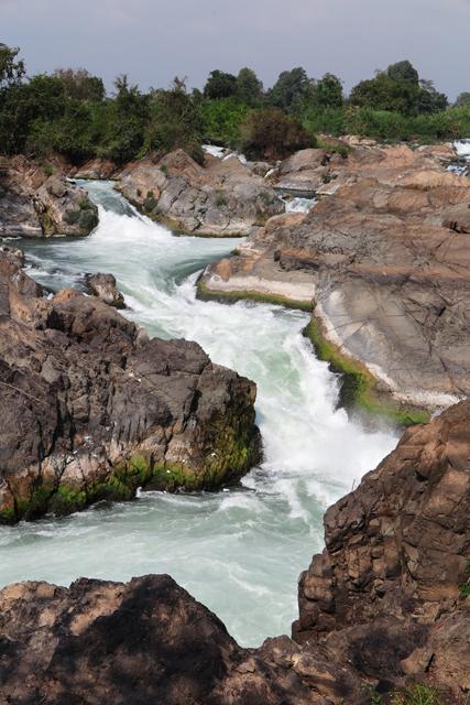 Cataratas de Li Phi en el rio Mekong, cerca de Don Khong. Si Phan Don, Laos.