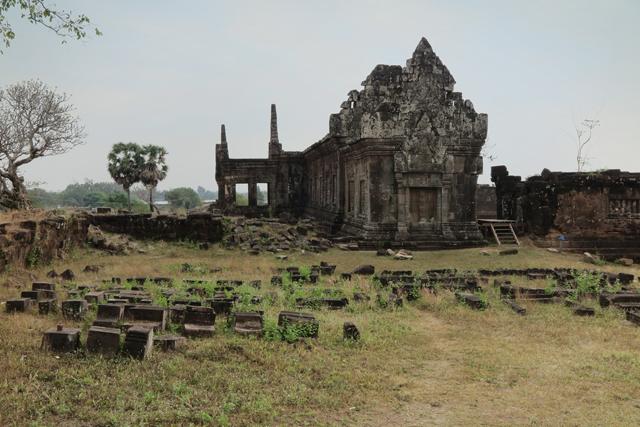 Las ruinas del nivel medio de Wat Phu. Champasak, Laos