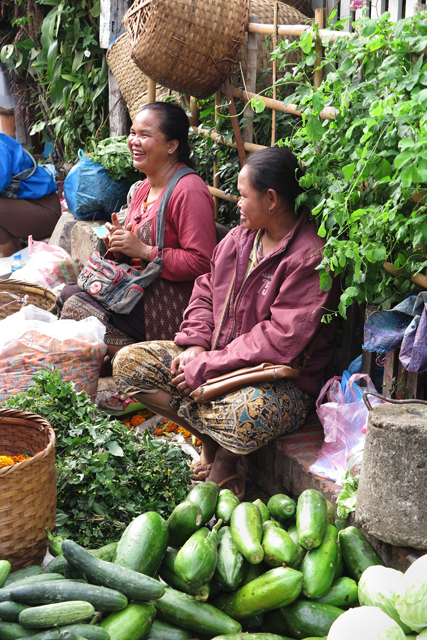 Vendedoras en el Morning Market de Luang Prabang, Laos