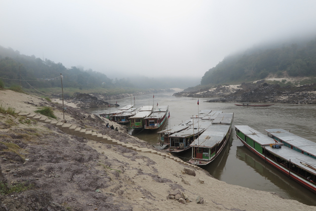 Anlegestelle in Pak Beng, Laos.