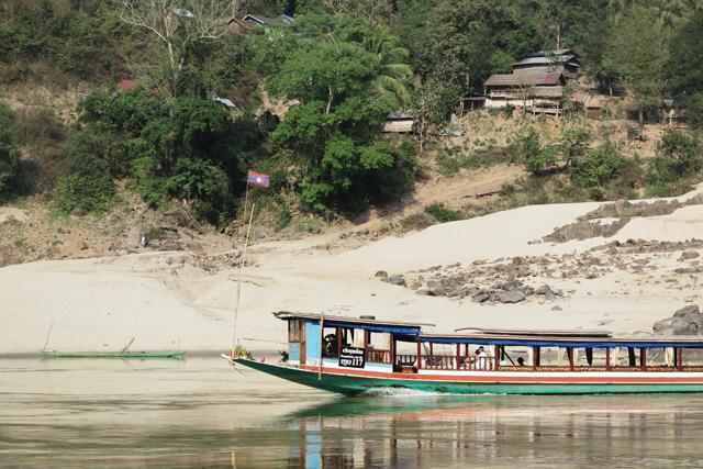 Slowboat auf dem Mekong, Laos.