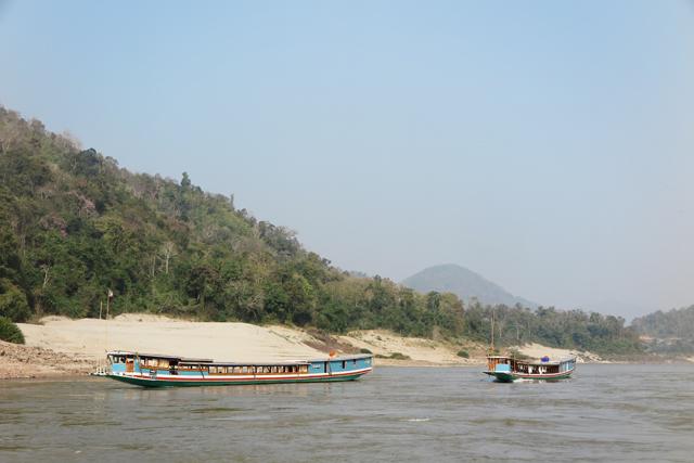 Von Luang Prabang nach Pak Beng im slowboat, Laos.